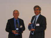 The Tony Sale Award winners 2014: Robert B Garner (L) and  Raul Rojas (R), Nov. 2014