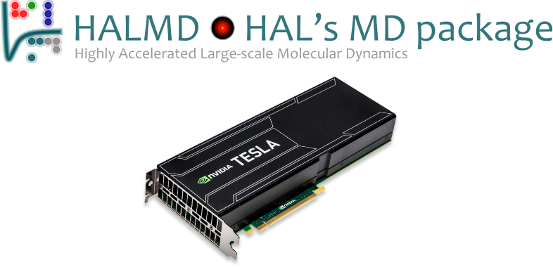 HALMD and Nvidia Tesla K40