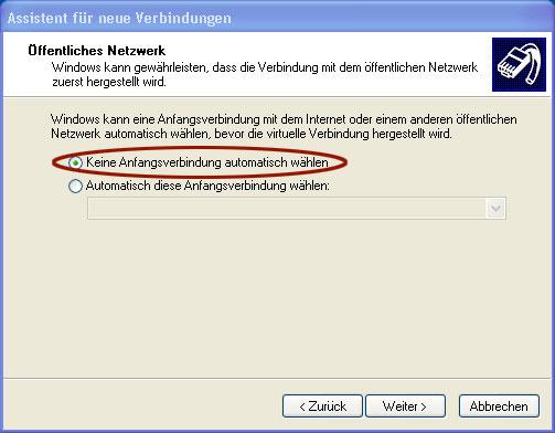 problem nicht identifiziertes netzwerk