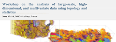 Workshop on analysis of large-scale, high-dimensional, and multivariate data using topology and statistics