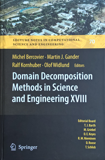 Domain Decomposition Methods in Science and Engineering XVIII, Titelseite