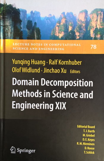Domain Decomposition Methods in Science and Engineering XIX, Titelseite