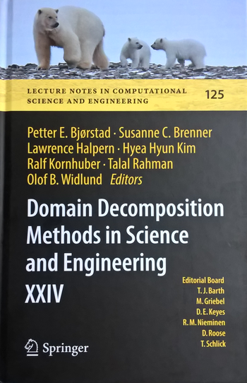 Domain Decomposition Methods in Science and Engineering XXIV, Titelseite