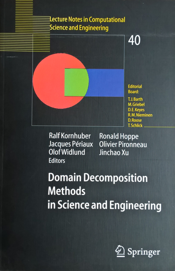 Domain Decomposition Methods in Science and Engineering, Titelseite