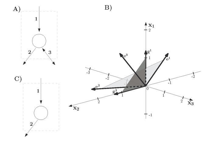 Projection of flux cones in the constraint-based analysis of metabolic networks