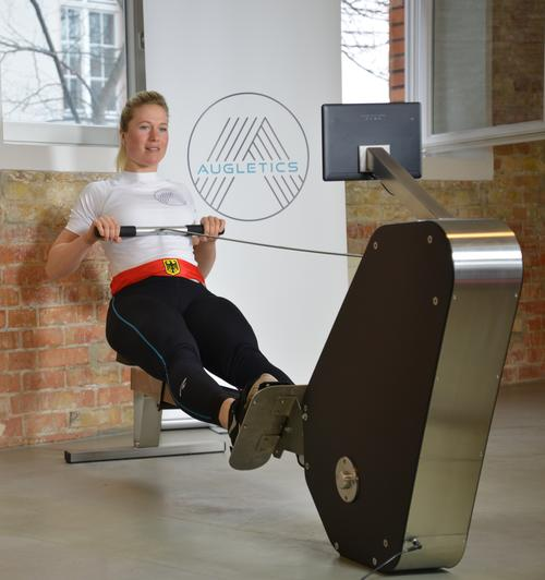Olympic champion Julia Lier on the Augletics pre-series rowing machine